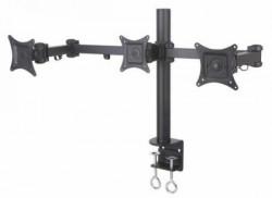 """S BOX LCD 352/3 Nosač stoni nosač za 3 televizora ili monitora 13""""-27"""" 3x8 kg Crni"""