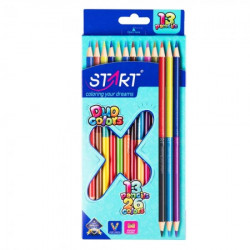 Start drvene bojice 13 x bicolor triangular i zarezac ( STR5519 )