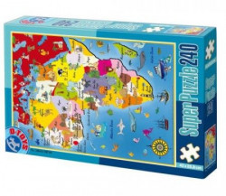 Super Puzzle 240PCS MAPS 04 ( 07/50663-04 )