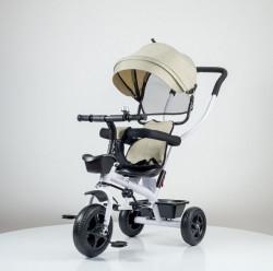 Tricikl Guralica Playtime Little model 415 - Beli ram/Bež tkanina