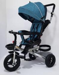 Tricikl za decu Model 03 sa rotirajućim sedištem - Teget