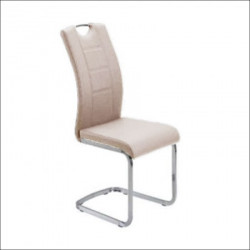 Trpezarijska stolica DC862 Noge hrom/ Cappuccino 580x430x980 mm ( 775-084 )