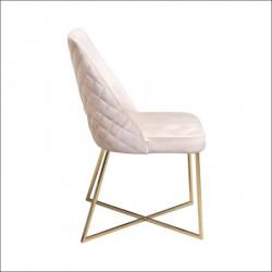 Trpezarijska stolica VIP Krem/Gold noge 470x500x920 mm ( 775-094 )