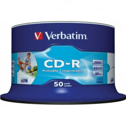Verbatim 43309 CD-R Printable 700MB 52X ( 74P5/Z )