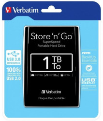 "Verbatim HDD 2.5"" 1TB USB3.0 53023"