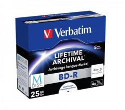 Verbatim M-DISC KAMENI 25GB 4X 5PACK print 43823 ( 525MP/Z )