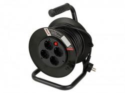 Womax produžni kabel na koturu crni 4/15m ( 77811515 )