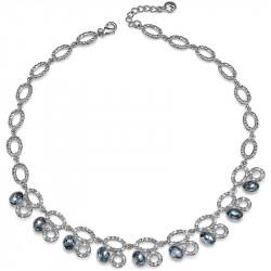 Ženska Oliver Weber Night Silver Night Ogrlica sa swarovski plava kristalom