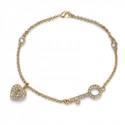 Ženska Oliver Weber Treasure Gold Crystal Zlatna Narukvica Sa Swarovski Belim Kristalom