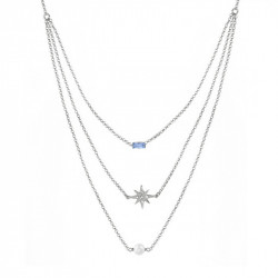 Ženska Victoria Cruz Rebekka Light Sapphire Ogrlica Sa Swarovski Plavim Kristalom