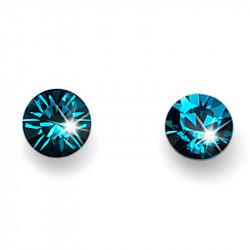 Ženske Oliver Weber Fine Cut Indicolite mindjuše sa swarovski plavim kristalom