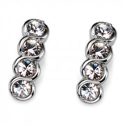 Ženske Oliver Weber Four Crystal mindjuše sa swarovski belim kristalom