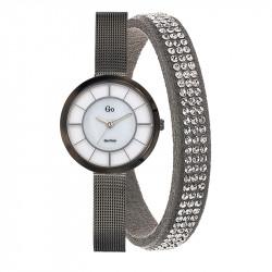 Ženski Girl Only Sivi Set Modni ručni sat sa poklon narukvicom