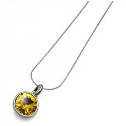 Ženski Oliver Weber Fun Sunflower Lančić sa swarovski žutim kristalnim priveskom