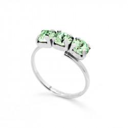 Ženski Victoria Cruz Celine Tree Minis Chrysolite Prsten Sa Swarovski Zelenim Kristalom