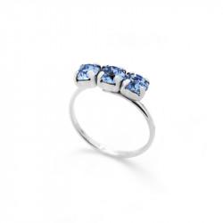 Ženski Victoria Cruz Celine Tree Minis Light Sapphire Prsten Sa Swarovski Plavim Kristalom