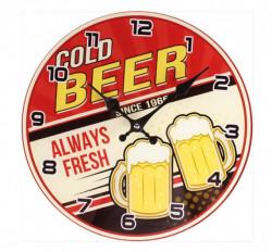 Zidni sat Cold Beer R30cm ( 203359 )