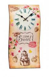 Zidni sat Talas I Love Sweet 40x21cm ( 35845_2 )