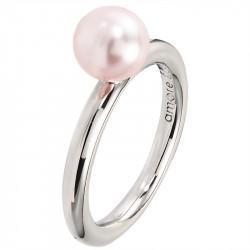Amore Baci srebrni prsten sa Roze biserom 57 mm