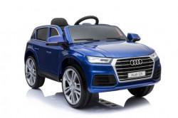 Audi Q5 2019 Licencirani auto na akumulator sa kožnim sedištem i mekim gumama - Plavi