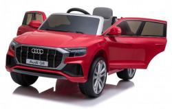 Audi Q8 Model 260-1 Licencirani auto na akumulator sa kožnim sedištem i mekim gumama - Metalik Crveni