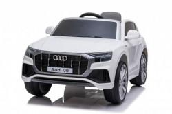 Audi Q8 Model 260 - Beli Licencirani auto na akumulator sa kožnim sedištem i mekim gumama
