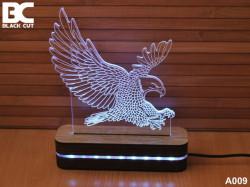 Black Cut 3D Lampa jednobojna - Orao ( A009 )