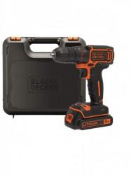 Black+Decker aku bušilica odvijač 18v 1 baterija kofer ( BDCDC18K )