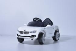BMW Mini Auto na akumulator sa kožnim sedištem i mekim gumama - Beli