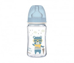 Canpol baby flasica 240ml siroki vrat, pp - bonjour paris 35/232 blue ( 35/232_blu )