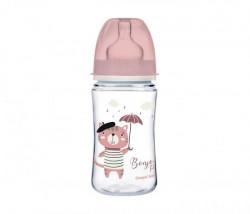 Canpol baby flasica 240ml siroki vrat, pp - bonjour paris 35/232 pink ( 35/232_pin )