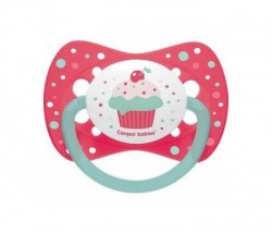 Canpol varalica silicon symmertrical 18m+ 23/284 Cupcake - pink ( 23/284_pin )