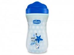 Chicco shiny čaša 12m+, svetli u mraku, plava ( A049965 )