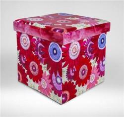 Childream Tabure kutija 36x36x36cm crveni cvetovi ( 0181307 )