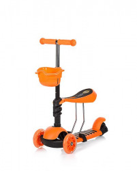 Chipolino trotinet KIDDY Orange - svetleći točkovi ( DSKI01704OR )