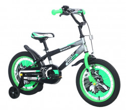 """Dečiji Bicikl Wolf 16"""" crna/siva/zelena ( 460460 )"""