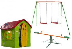 Dečiji komplet za dvorište ( Fun Fun G ) Ljuljaška + Kućica + Klackalica