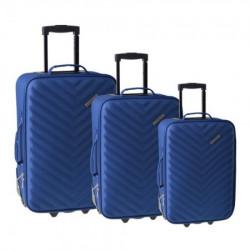 Doha, kofer, set 3 komada, PE, plava ( 100105 )