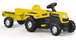 Dolu Ranchero Traktor sa prikolicom na pedale - Žuti ( 080462 )