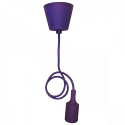 Elit+ silikonska luster visilica sa grlom e27 ljubičasta ( EL9727 )