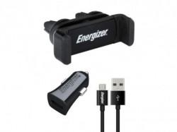 Energizer Max Universal Car Kit 1USB+MicroUSB Cable Black ( CKITB1ACMC3 )