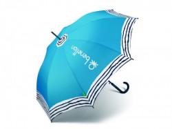 Gamp, kišobran, dugi, plava, pruge ( 504014 )