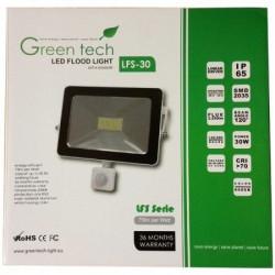 Green Tech LED Reflektor 30W + senzor 6000K 2250LM ( RS30CG/Z )
