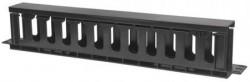 """Intellinet 19"""" panel za upravljanje kablovima, 1U, poklopac, crni ( 0537128 )"""