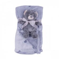 Jungle ćebe sa igračkom Sivi meda 90x75cm ( 31000162 )