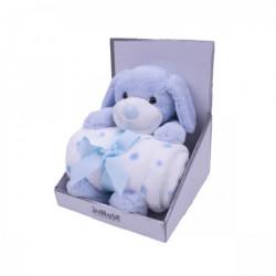 Jungle igračka sa ćebetom Kuca plava 25cm,90x75cm ( 31000246 )