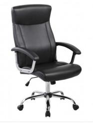 Kancelarijska fotelja 9343H od eko kože - Crna