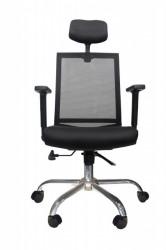 Kancelarijska stolica FA-6070 od mesh platna - Crna