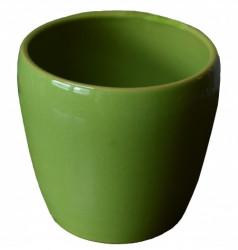 Kerbek saksija tarifa 13.5cm glazura zelena ( KE G58/135/012 )