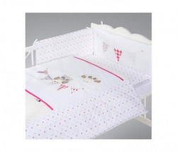 Klups Posteljina za bebe set 5 delova night birds pink ( C-5/H237 )